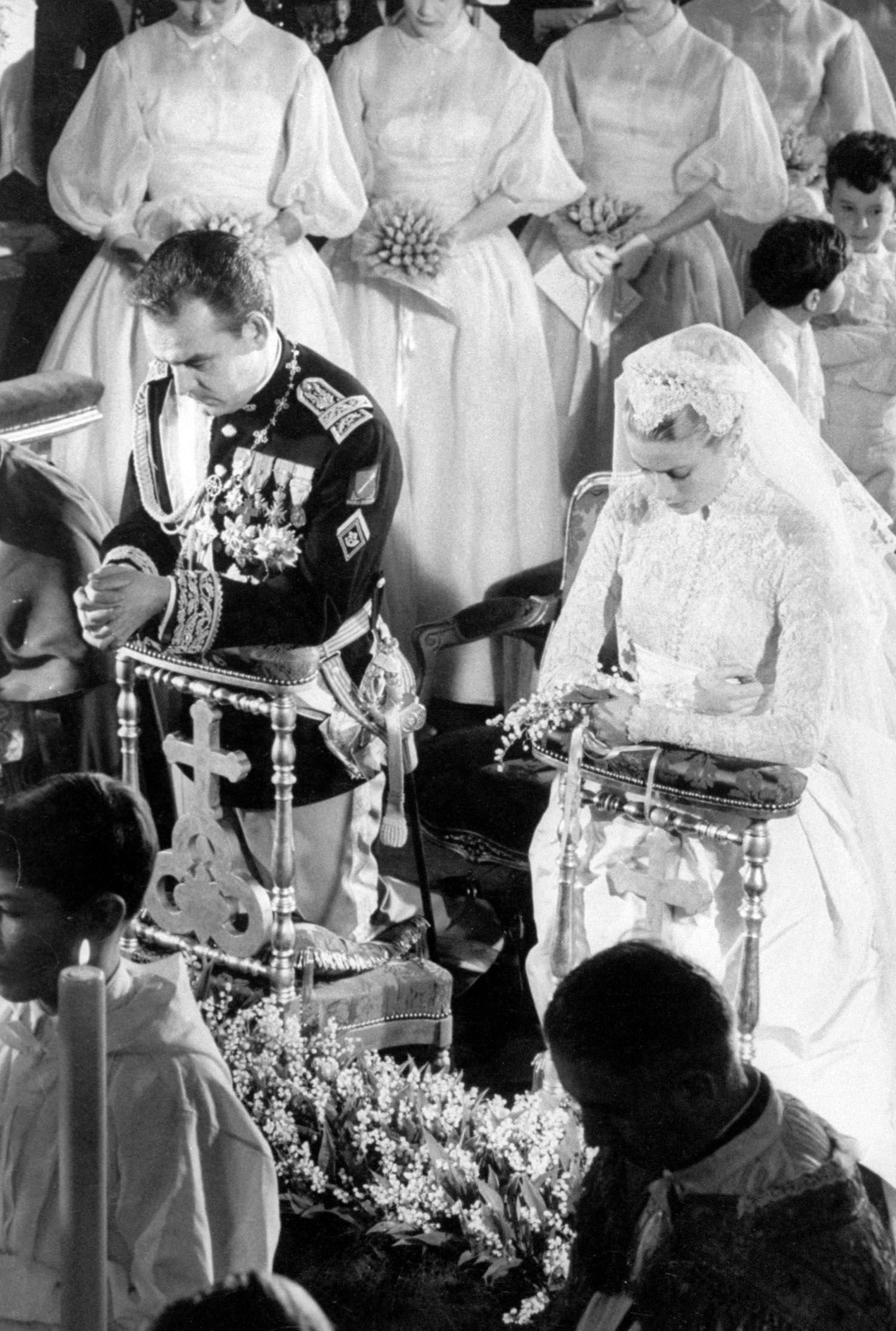 Grace Kelly's wedding to Prince Rainier in 1956 | Source: Getty Images