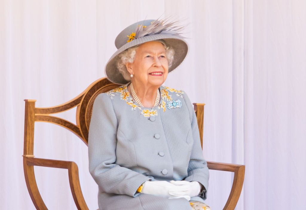 Queen Elizabeth II a the Trooping of the Colour military ceremony in the Quadrangle of Windsor Castle to mark her Official Birthday at Windsor Castle in Windsor, England | Photo: Pool/Samir Hussein/WireImage via Getty Images