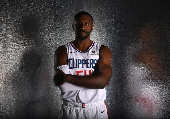 Patrick Patterson for a photo during LA Clippers media day in Playa Vista, California.| Photo: Getty Images.