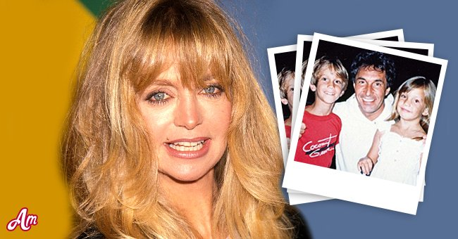 Goldie Hawn Inset: Bill Hudson with Kate and Oliver when they were younger | Source: Getty Images