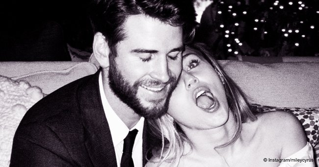 Miley Cyrus reveals unseen wedding photos as she thanks husband for always bending to hug her