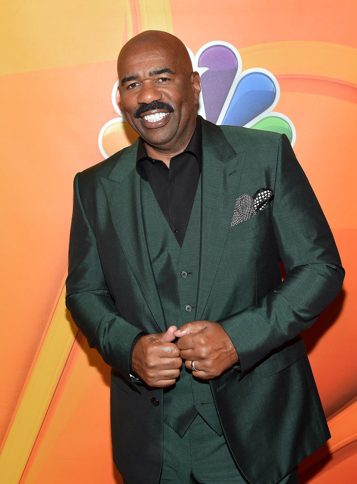 Steve Harvey at the NBCUniversal Summer TCA Press Tour at The Beverly Hilton Hotel on August 3, 2017    Photo: Getty Images