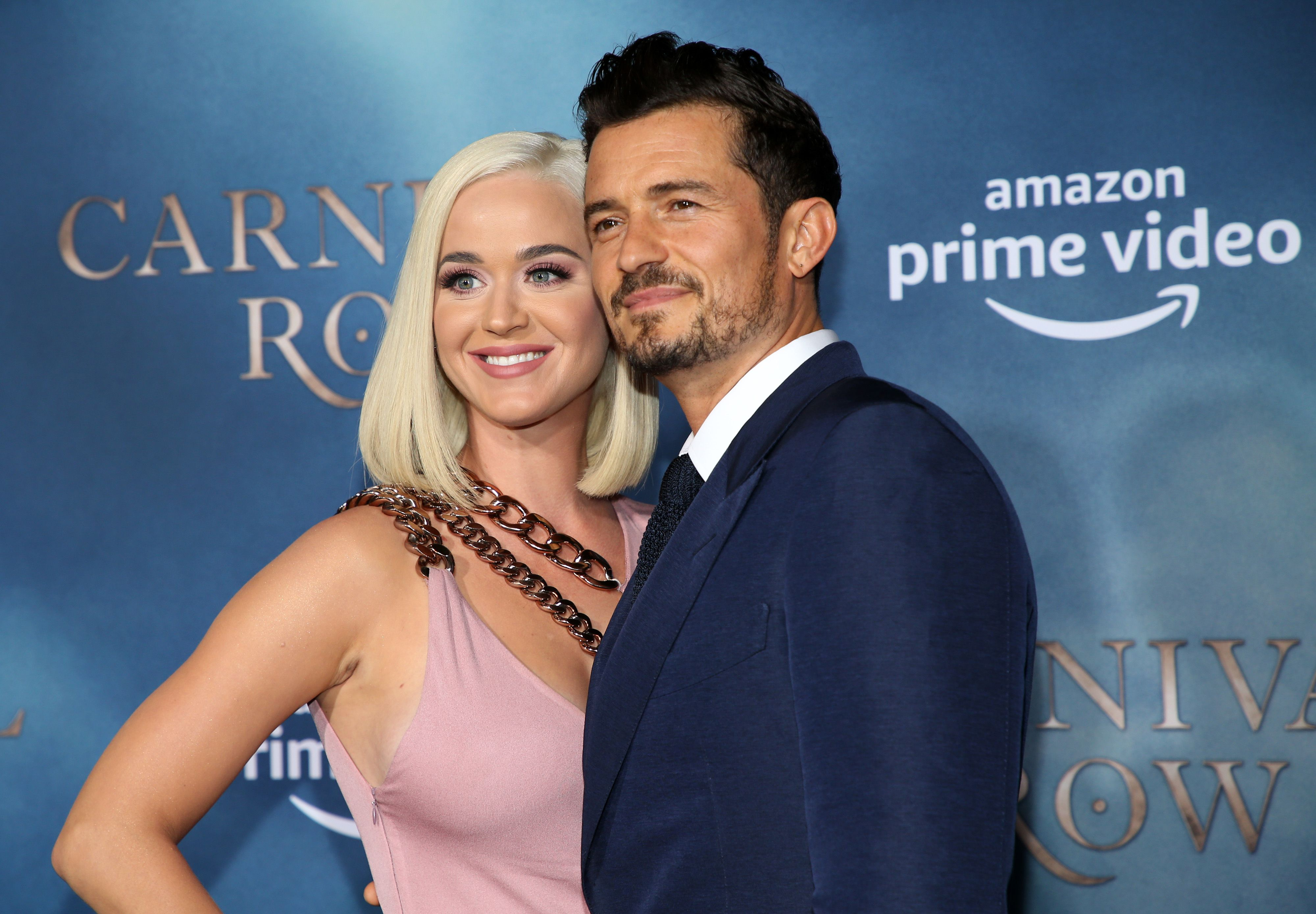 """Katy Perry and Orlando Bloom at the LA premiere of Amazon's """"Carnival Row"""" at TCL Chinese Theatre on August 21, 2019 
