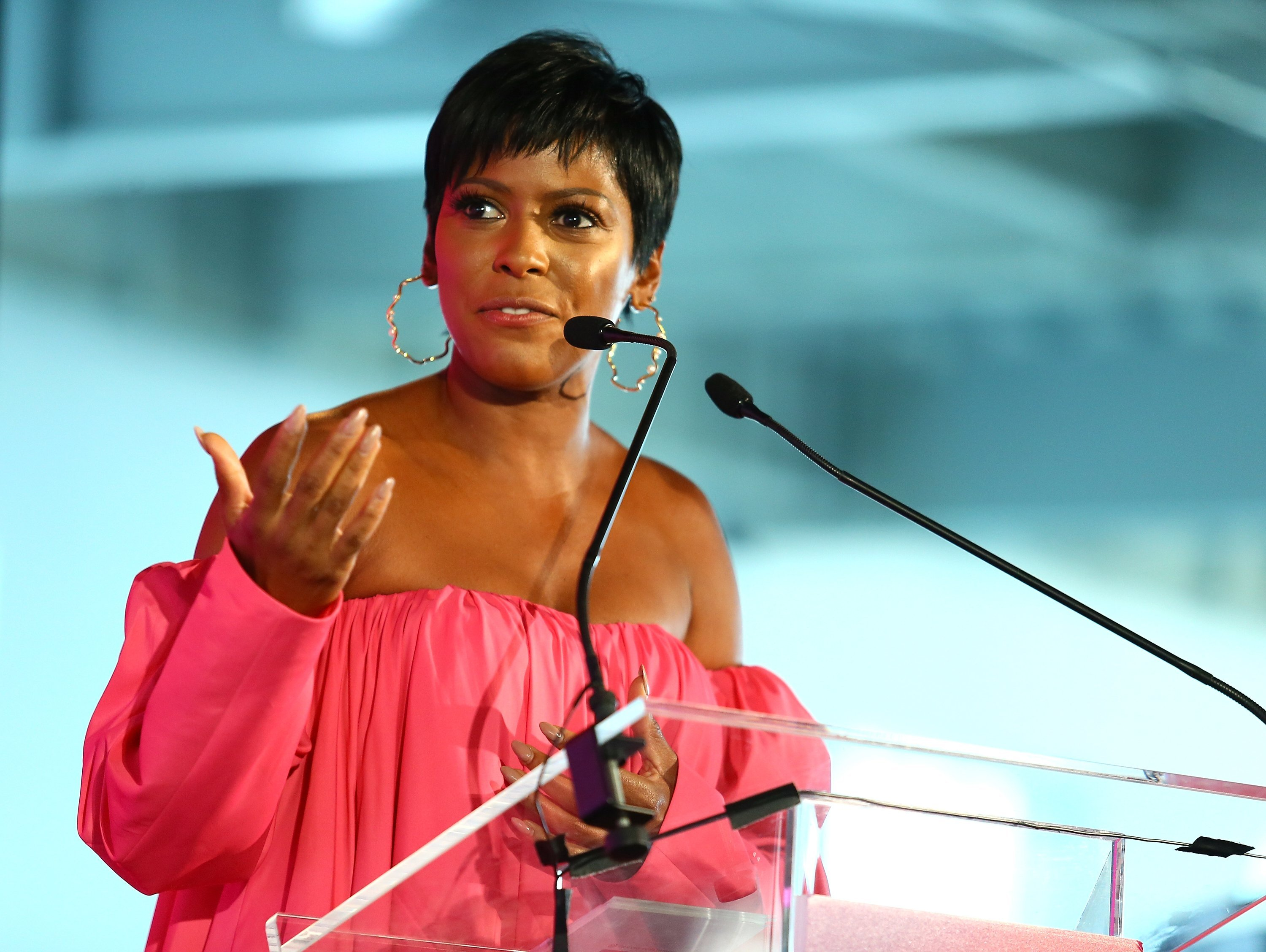 Tamron Hall speaks at the #BlogHer 18 Creators Summit in New York City on August 9, 2018 | Photo: Getty Images