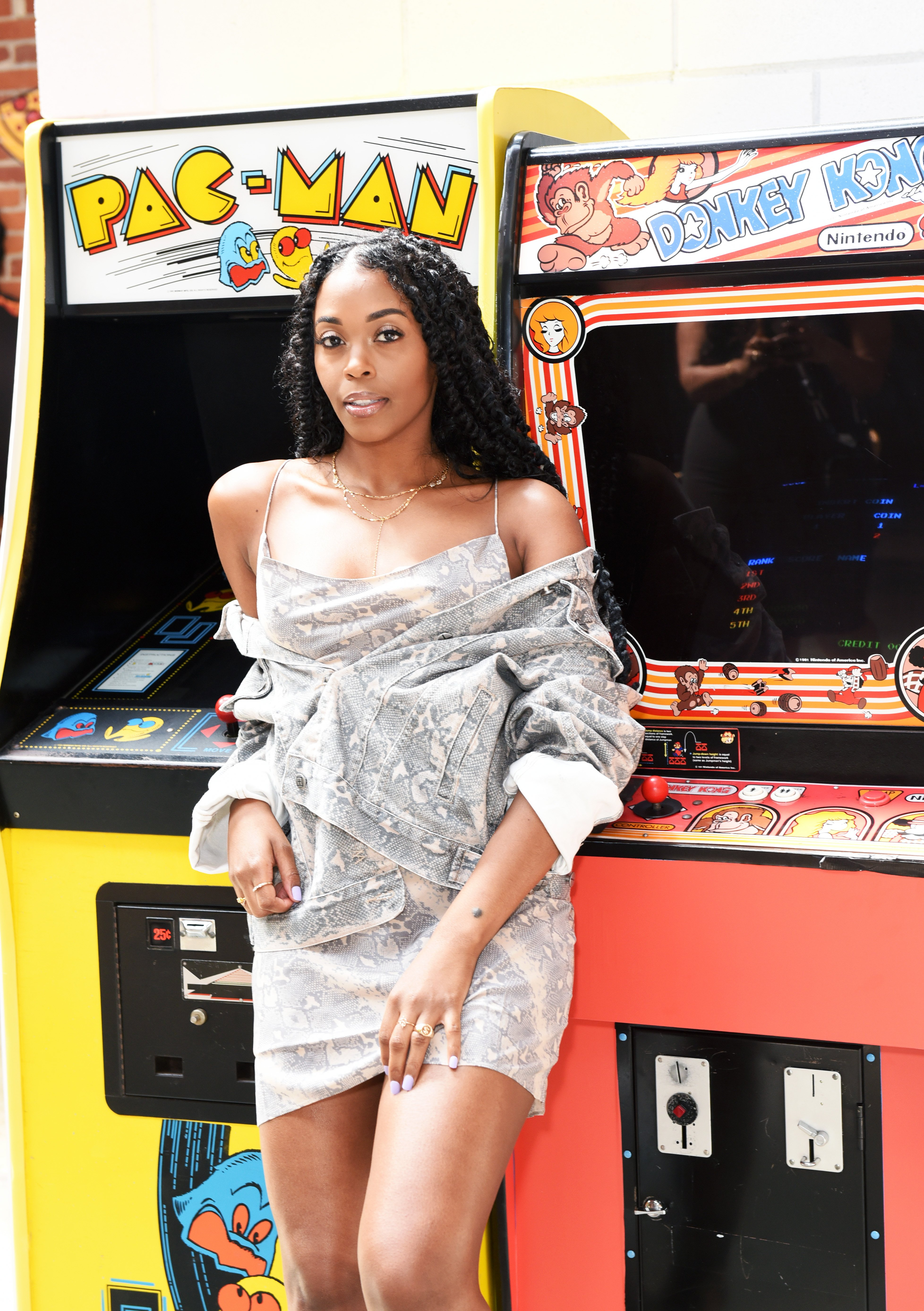 Nafessa Williams of 'Black Lightning' at the Pizza Hut Lounge at the  2019 Comic-Con International: San Diego on July 20, 2019 in San Diego, California   Photo: Getty Images