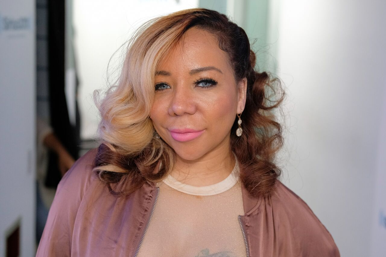 "Tameka ""Tiny"" Harris visits SiriusXM Studios on April 19, 2017. 