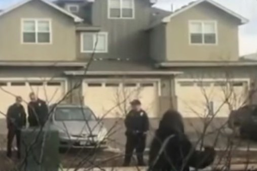 Zayd Atkinson being held at gunpoint by Colorado officers. | Photo: YouTube/ ABC News.