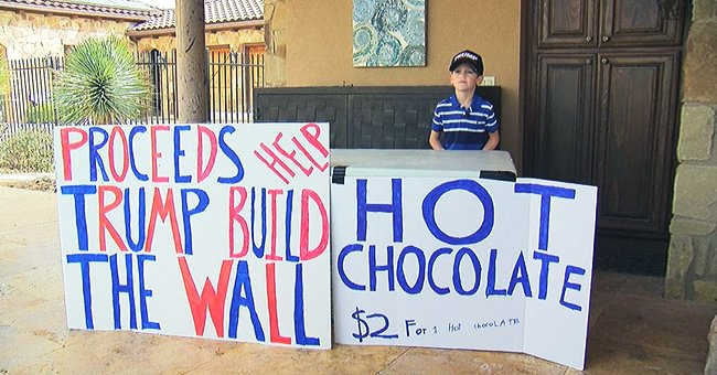 7-year-old boy selling hot chocolate to raise money for border wall called 'little Hitler'