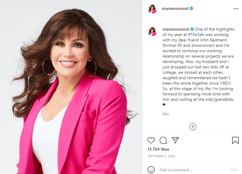"""Marie Osmond discusses a highlight from her time on """"The Talk."""" 