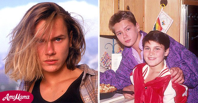River Phoenix in his 20s and and River with Joaquin Phoenix as kids | Photo: Getty Images