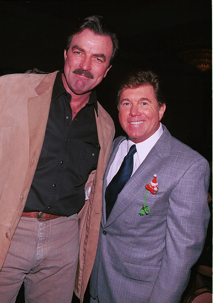 Tom Selleck and Larry Manetti, at the TV and Motion Pictures Mothers 2000 Awards December 9, 2000 | Photo: GettyImages