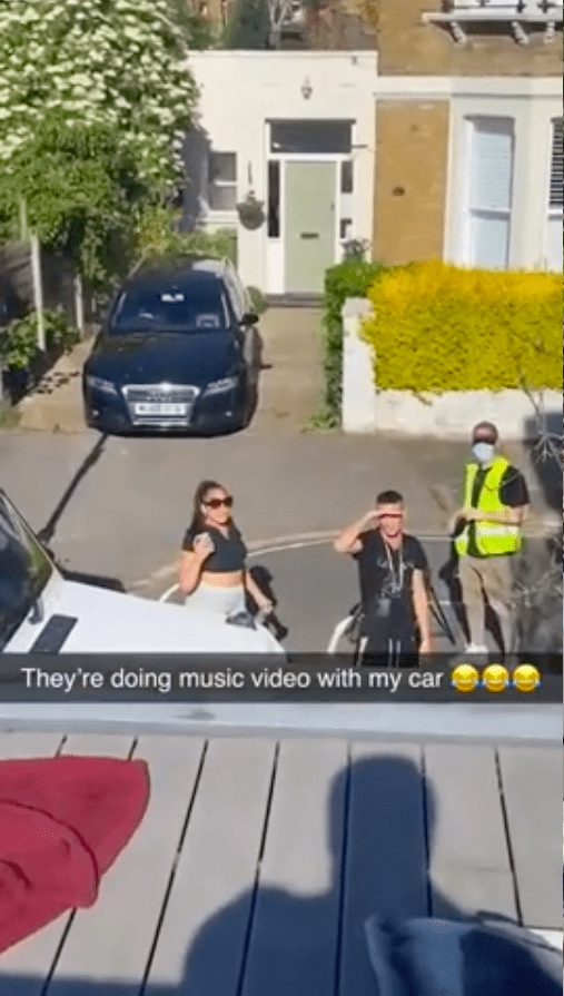 Screenshot of video showing people shooting the music video.   Source: Reddit/ MintyMinh