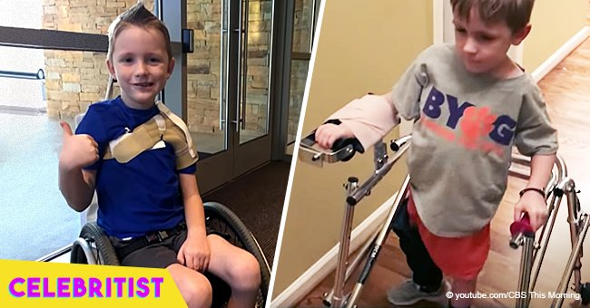Story of paralyzed boy who walked again after nerve transplant surgery still melts hearts