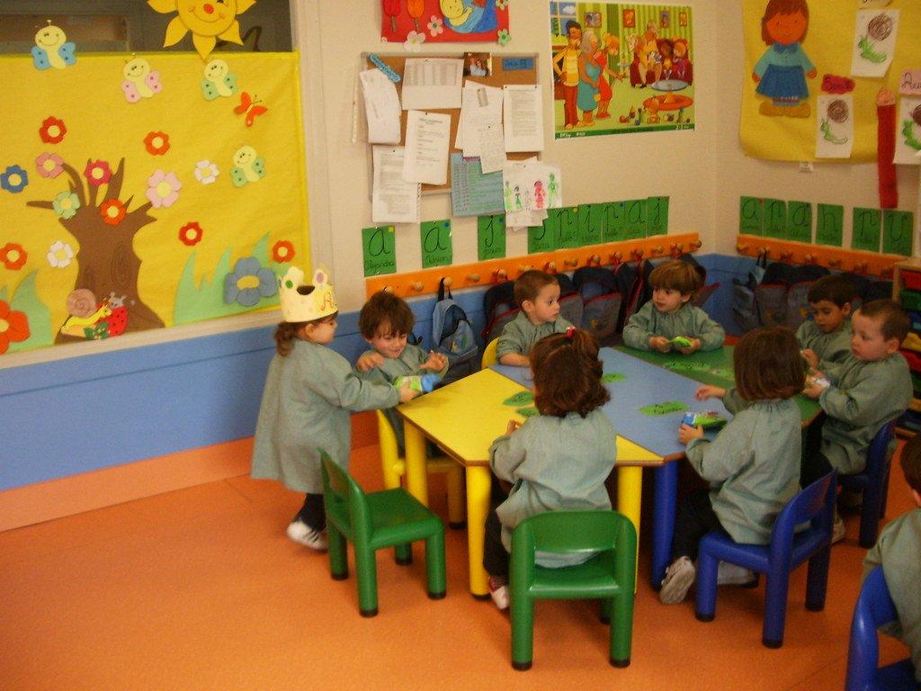 Grupo de niños en una guardería. | Imagen: Flickr