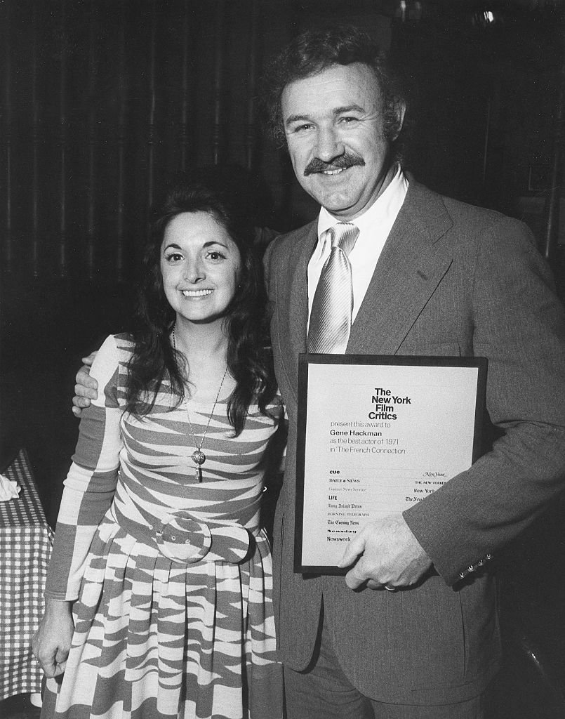 Gene Hackman with  Faye Maltese after receiving the New York Film Critics Award in 1972 for his role in 'French Connection' | Source: Getty Images