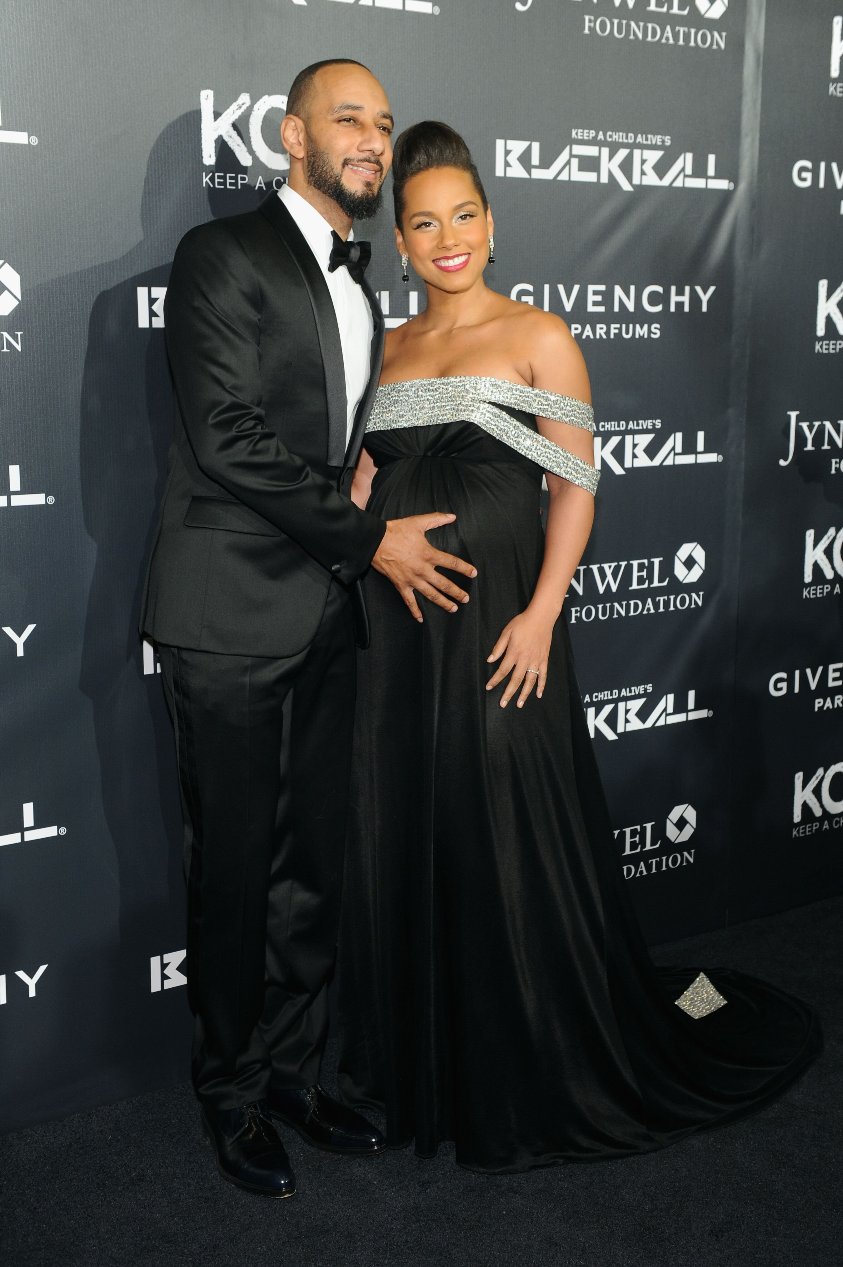 wizz Beats and Alicia Keys at the 9th annual Keep A Child Alive Black Ball in 2014   Source: Getty Images