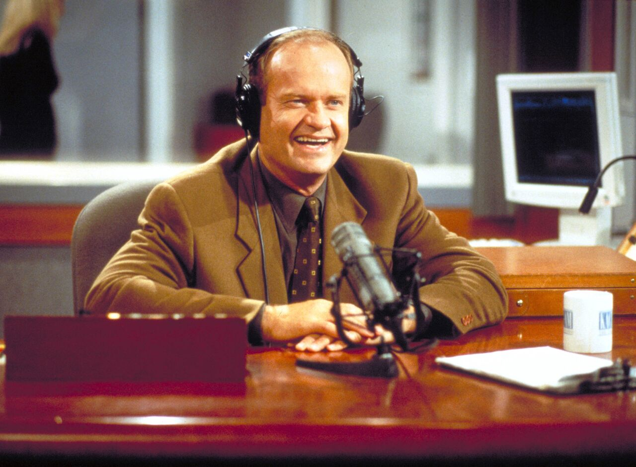 "Kelsey Grammer as Frasier Crane in NBC''s television comedy series ""Frasier."" Episode: ""Mary Christmas."" 