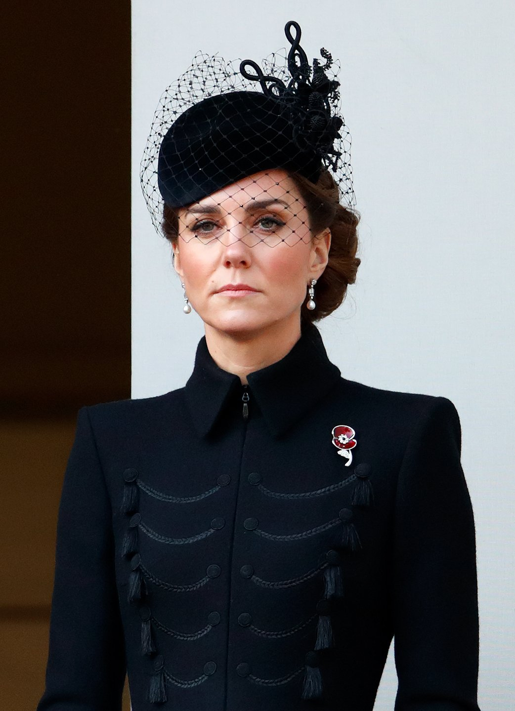Kate Middleton attends the annual Remembrance Sunday service in London, England on November 10, 2019   Photo: Getty Images
