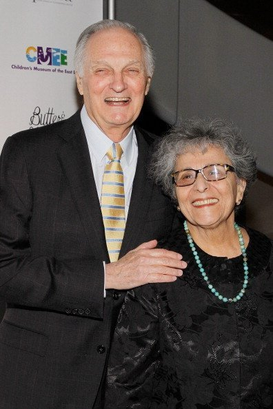 """Alan Alda and Arlene Alda attend the 2014 """"CMEE In The City"""" fundraiser at Riverpark on February 25, 2014 in New York City 