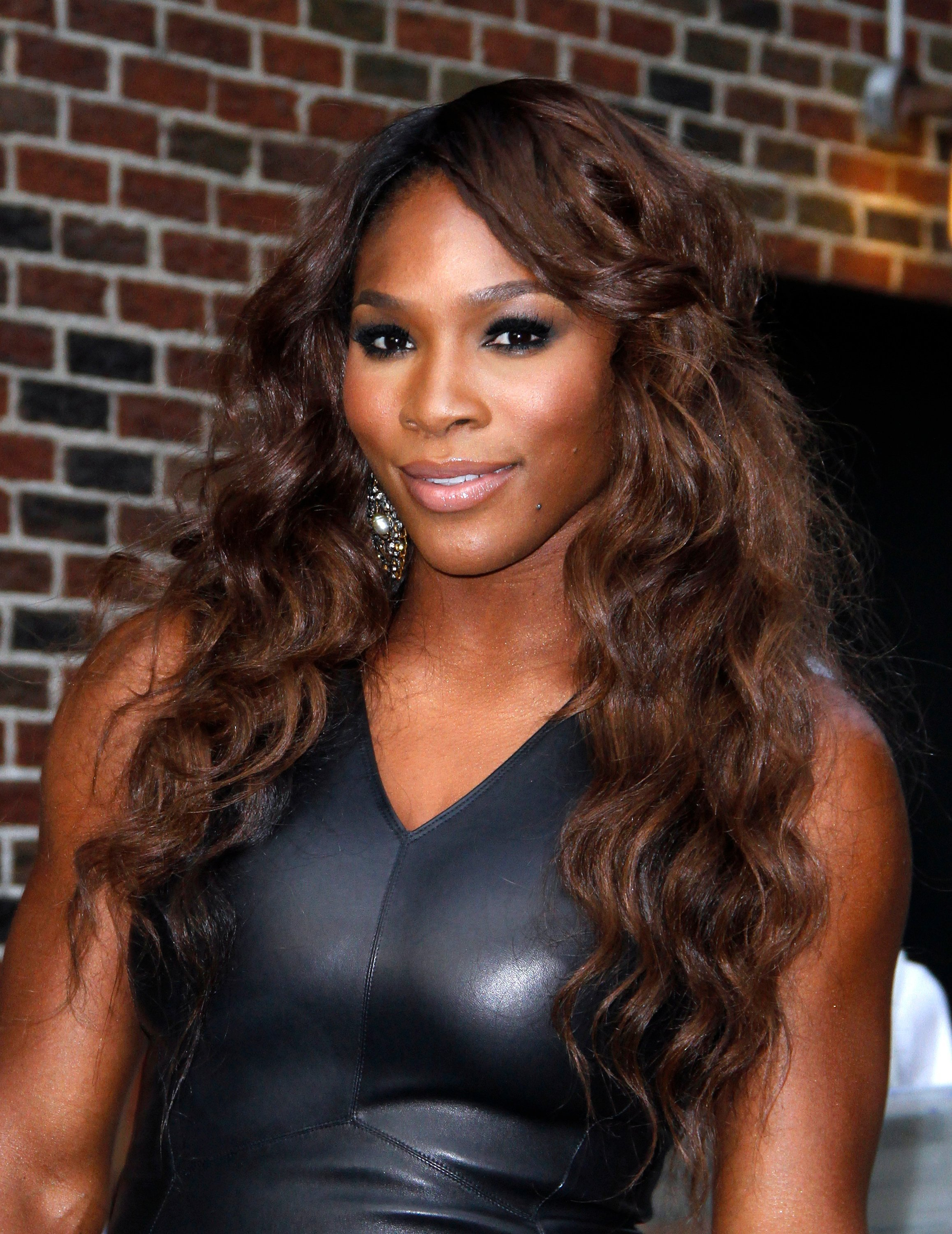 "Serena Williams leaves the ""Late Show with David Letterman"" at Ed Sullivan Theater 