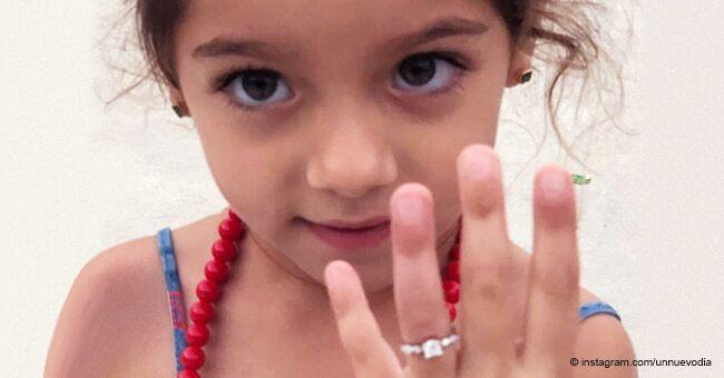 La hija de 4 años de Adamari López y Toni Costa recibe anillo de compromiso y derrite a los fans