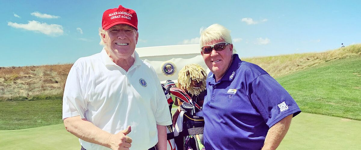 John Daly Credits Donald Trump for Having 'One of the Greatest Days' after Teeing off with the President