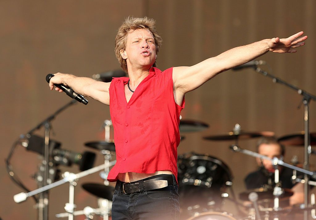 Jon Bon Jovi on stage during day one of 'British Summer Time Hyde Park' at Hyde Park on July 5, 2013 | Photo: Getty Images
