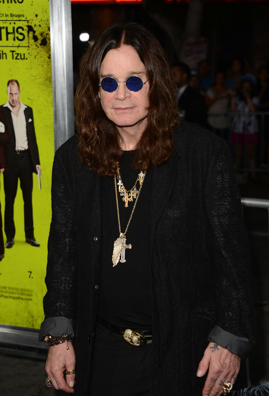 Ozzy Osbourne at the premiere of CBS Films' 'Seven Psychopaths' at Mann Bruin Theatre on October 1, 2012 in Westwood, California. | Source: Getty Images