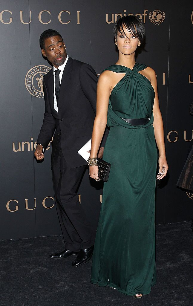 Chris Rock and singer Rihanna at a UNICEF benefit hosted by Gucci in 2008 in New York   Source: Getty Images