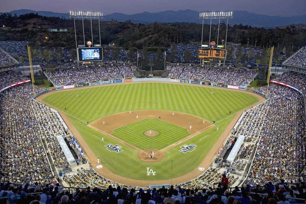 Grandstands overlooking home plate at Dodgers Stadium, Los Angeles, 2008 | Photo: Shutterstock