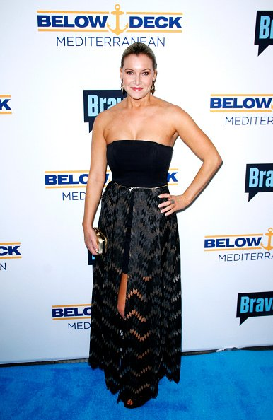 "Hannah Ferrier at Bravo's ""Below Deck"" Premiere on April 27, 2016 in New York City. 