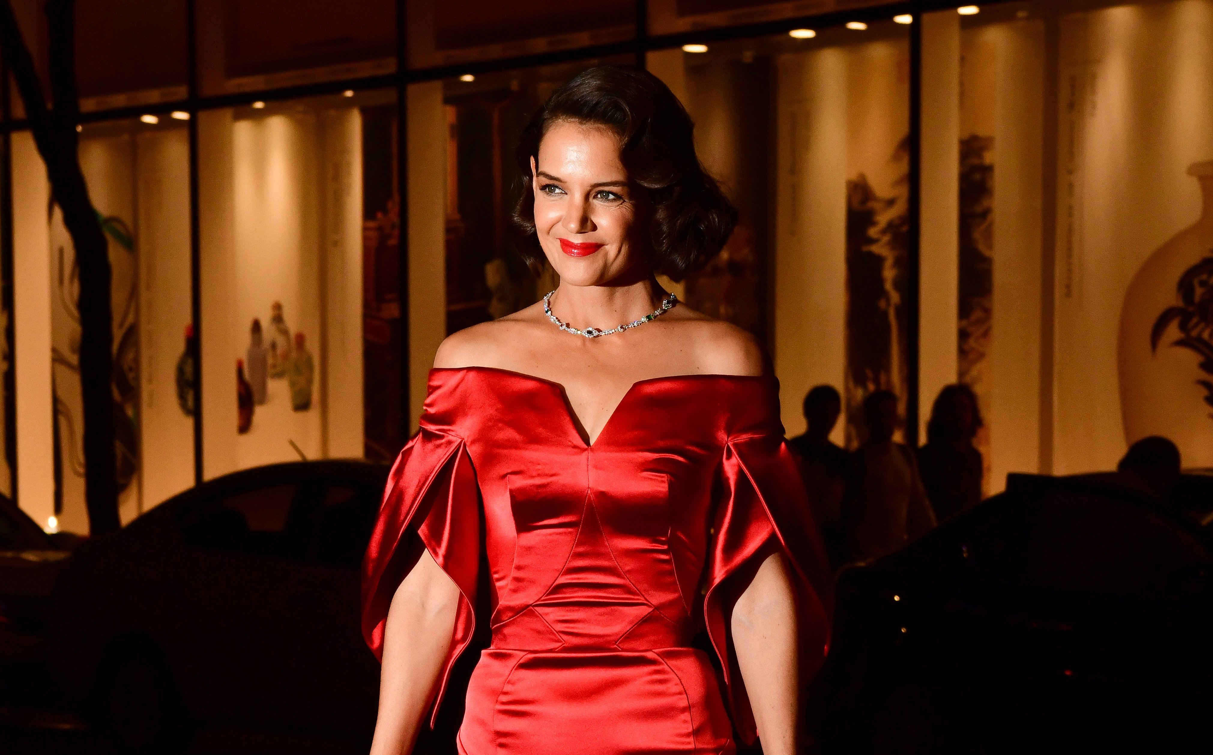 Katie Holmes arrives at the Rainbow Room on September 20, 2018 in New York City | Photo: Getty Images