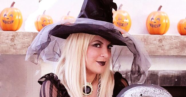 Tori Spelling of BH90210 Poses in '80s Outfit as She Joins Husband Dean Mcdermott at a Halloween Party
