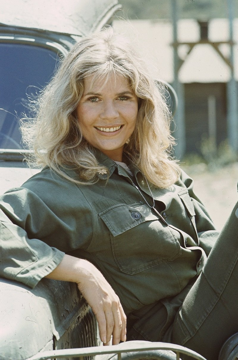 """Loretta Swit, in costume as Major Margaret Houlihan, in the TV series """"M*A*S*H"""" in California in 1975 