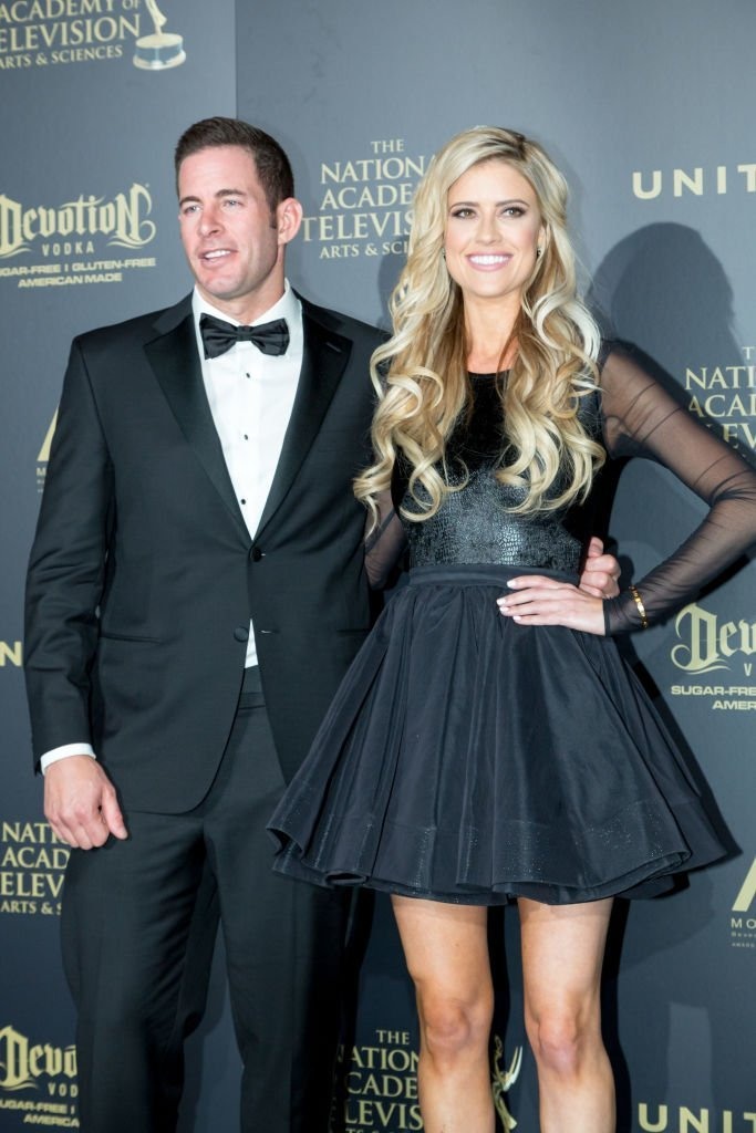 Tarek El Moussa  and Christina Anstead attend the 44th Annual Daytime Emmy Awards at Pasadena Civic Auditorium. | Photo: Getty Images
