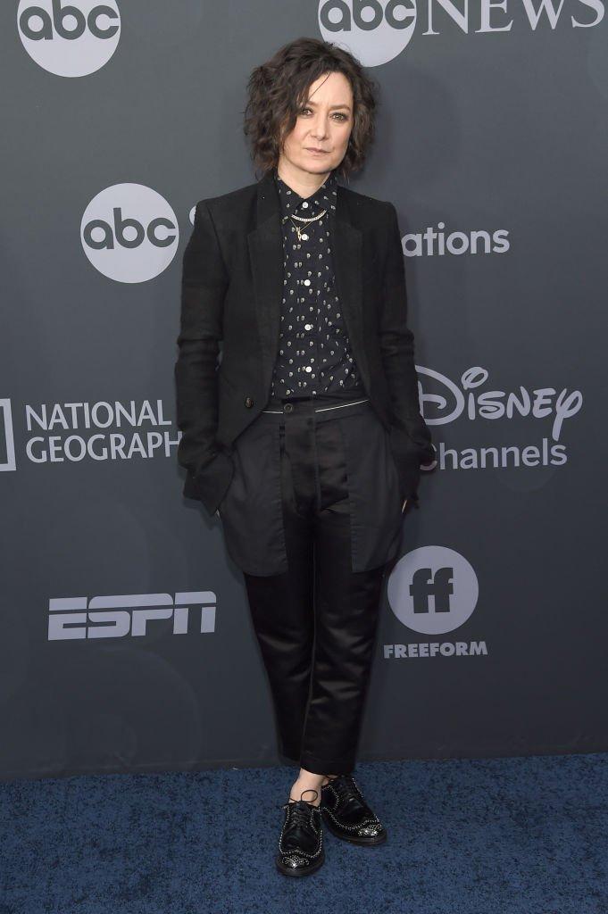 La comédienne Sara Gilbert. l Source : Getty Images