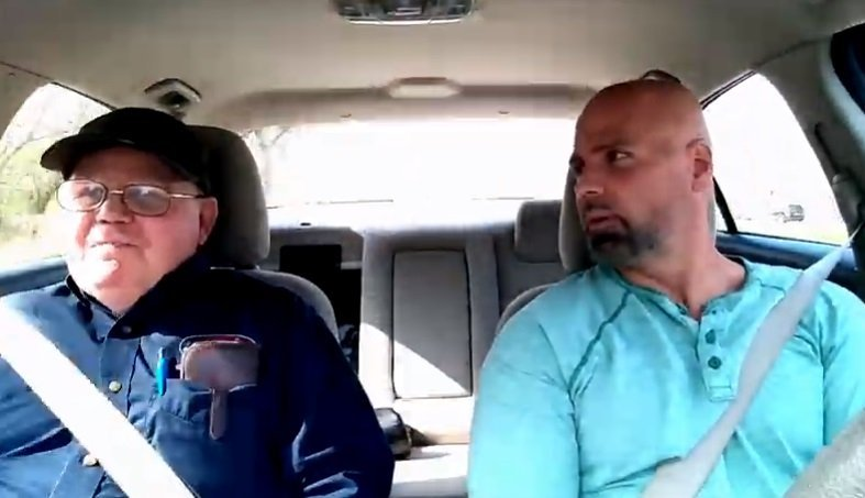 Kenneth Keene, US Army Veteran with Dementia and his son.   Photo: YouTube/ The Journey With ToughKenaMan.