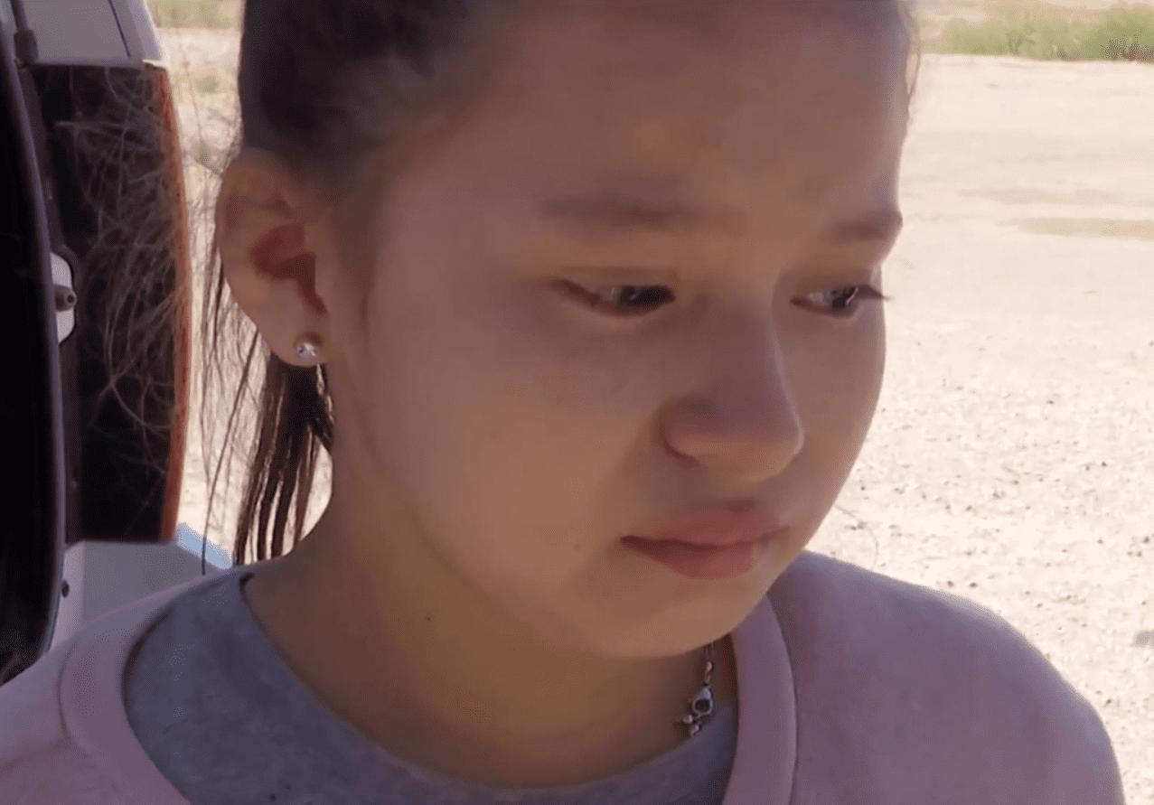 Screenshot de la niña salvadoreña de 11 años. Fuente: Univisión