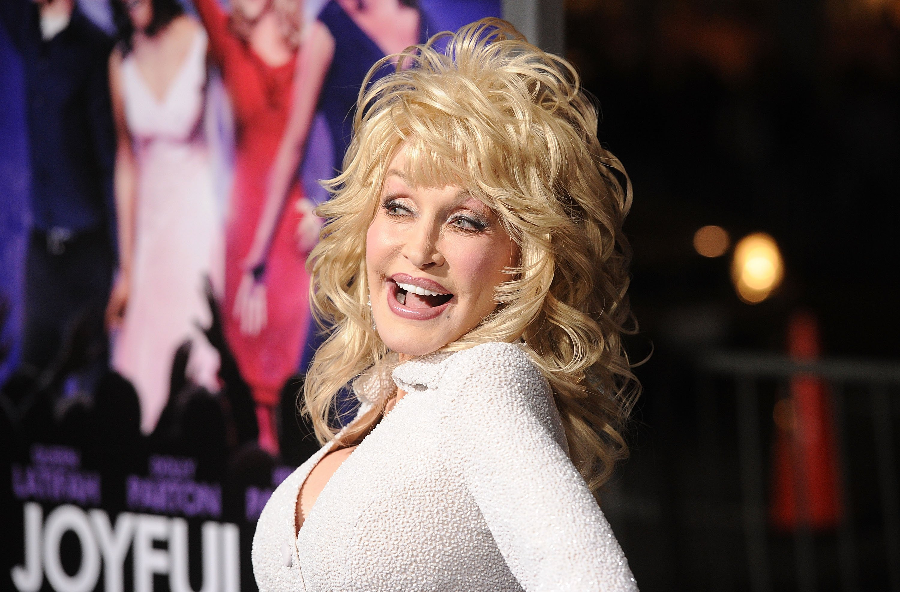 """Dolly Parton attends the premiere of """"Joyful Noise"""" in Hollywood, California on January 9, 2012 