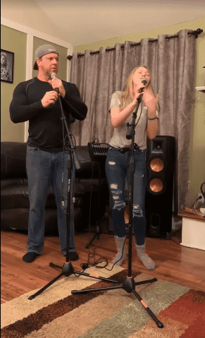 Dad and Teen performing a Cover of Lady Gaga's Hit 'Shallow'. | Photo: YouTube/ Auti G.