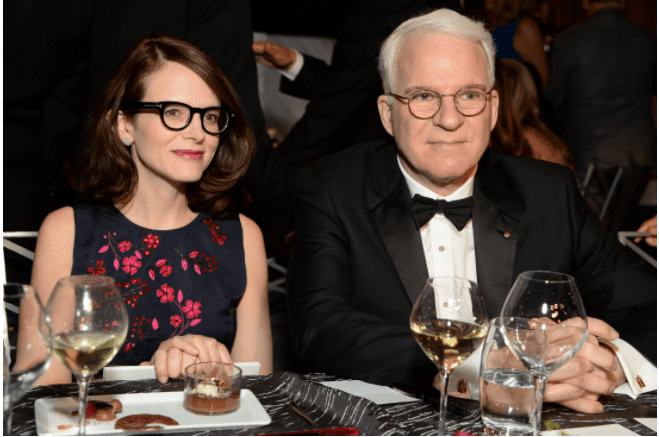 Anne Stringfield and honoree Steve Martin attend the 43rd AFI Life Achievement Award Gala. | Source: Getty Images