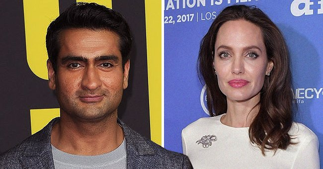 """Kumail Nanjiani at the """"Stuber"""" movie premiere in 2019 (left) and Angelina Jolie during """"The Breadwinner"""" film premiere in 2017 (right).   Photo: Getty Images"""