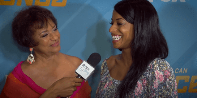 "Debbie Allen and Vivian nixon during an interview at the ""So You Think You Can Dance"" finale. 