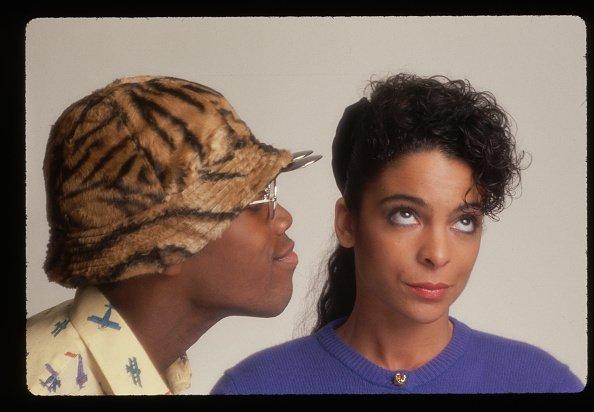 "Jasmine Guy and Kadeem Hardison on set of ""A Different World"". | Photo: Getty Images."