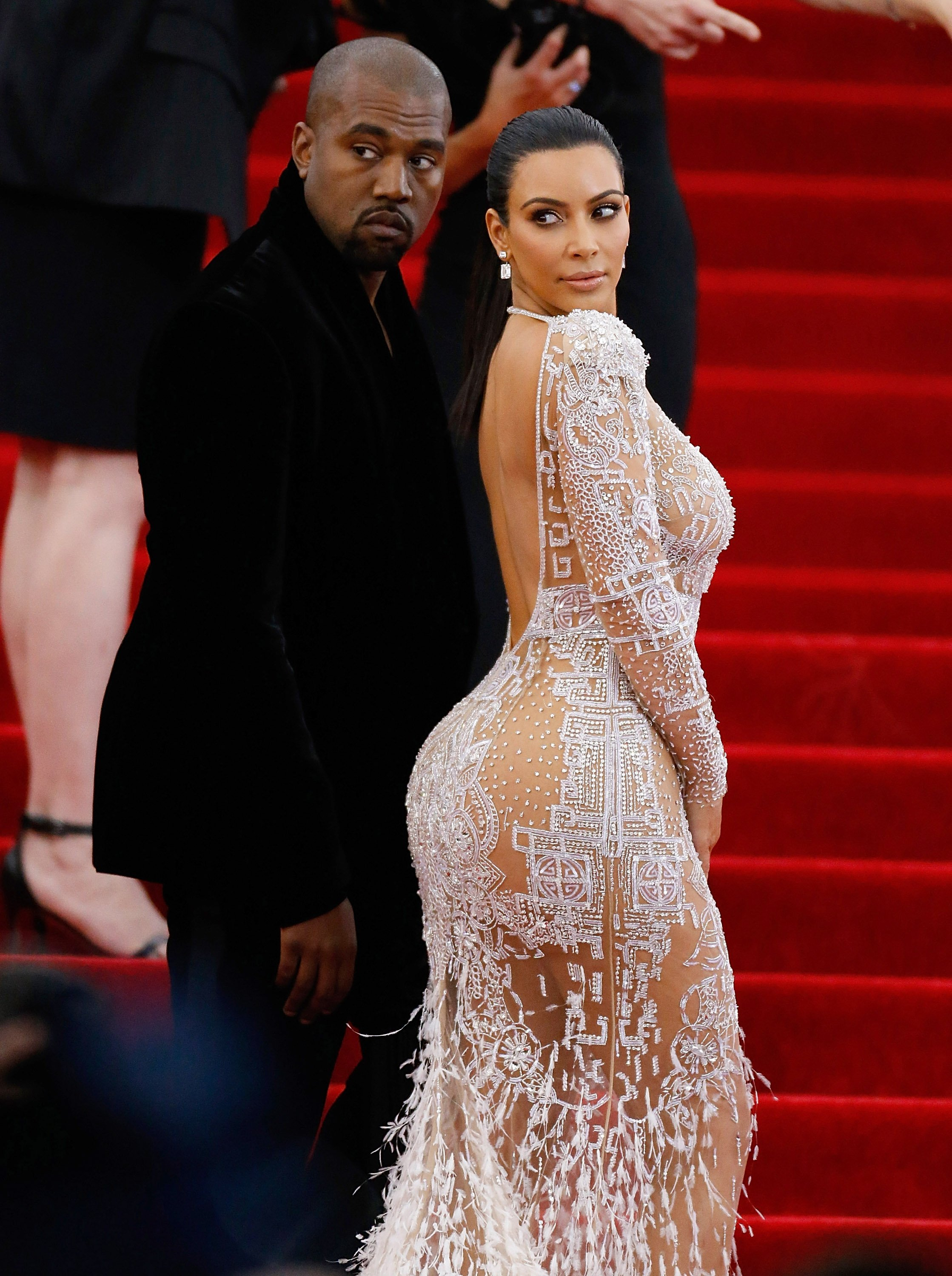 "Kanye West and Kim Kardashian attend ""China: Through The Looking Glass"" Costume Institute Benefit Gala on May 4, 2015. 