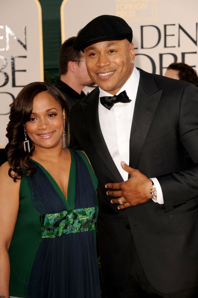 LL Cool J (R) and wife Simone Johnson arrive at the 68th Annual Golden Globe Awards held at The Beverly Hilton hotel | Photo: Getty Images