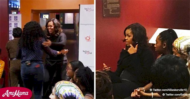 Michelle Obama honors high school girls with a private roundtable session