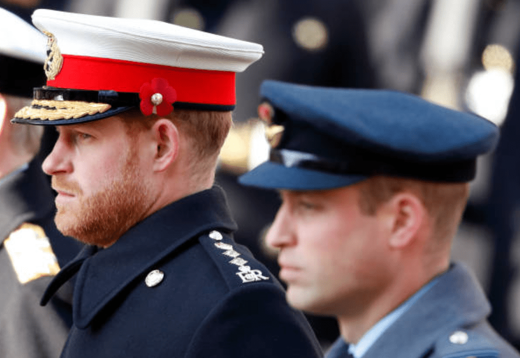 Prince Harry and Prince William take part in the ceremonial service for the annual Remembrance Sunday service, on November 10, 2019 in London, England | Source: Getty Images
