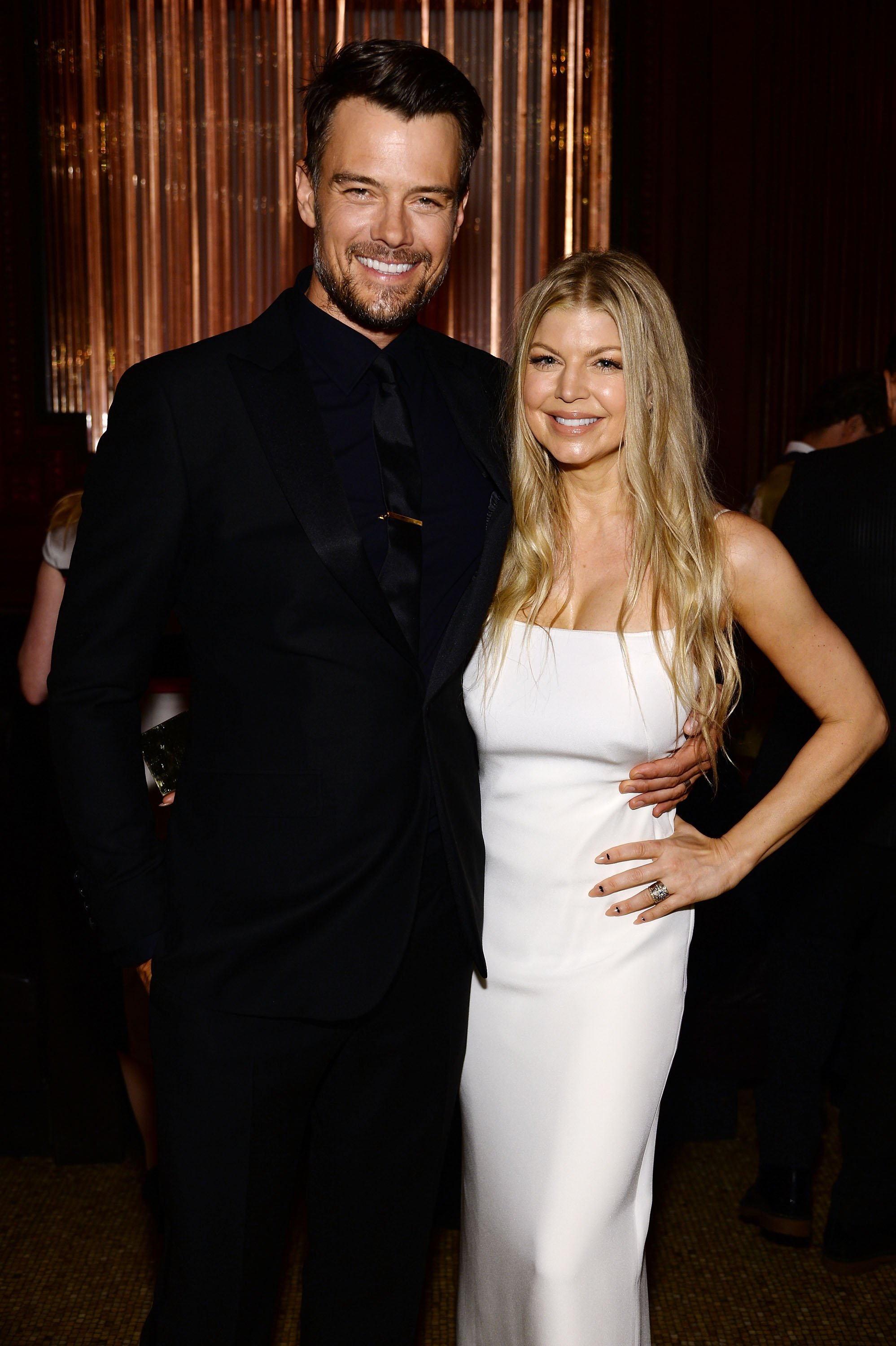 Fergie Duhamel and Josh Duhamel attend the amfAR Inspiration Gala New York 2014 at The Plaza Hotel on June 10, 2014, in New York City. | Source: Getty Images.