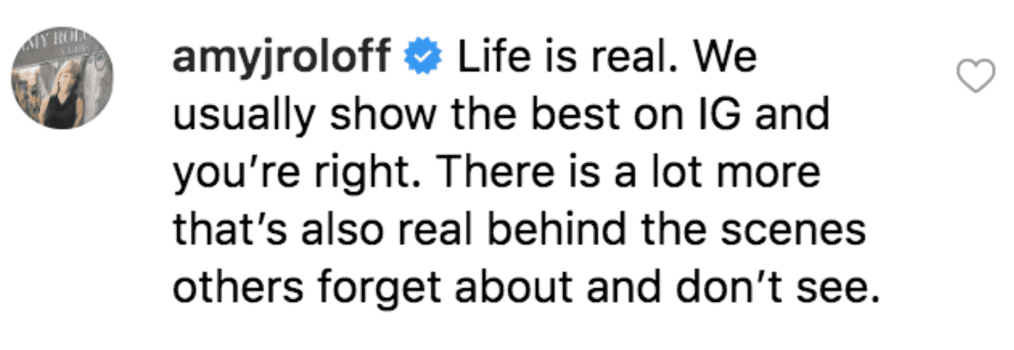 Amy Roloff's comment on Audrey's post. | Source: Instagram/audreyroloff